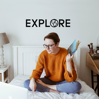 "Explore - 7.5"" X 40"" - Modern Travel Trendy"