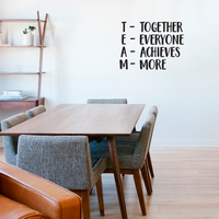 "Together Everyone Achieves More - Team - Inspirational Wall Quotes - 30"" x 23"" - Wall Art Decal - Decoration Vinyl Sticker - Peel Off Stickers 660078089231"