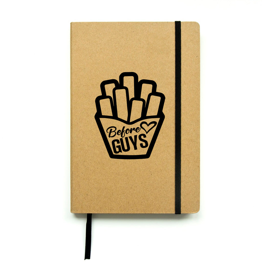 "Fries Before Guys - Vinyl Laptop Stickers - 4"" x 5"" - Removable Vinyl Decals for Computers, Cars, Walls, Journals and Notebooks - Die Cut Vinyl Friendship Quotes 660078096970"