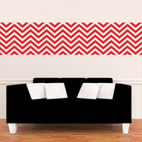 "Vinyl Wall Art Decals - Chevron Stripes - 22.5"" x 45""- Cool Adhesive Sticker Pattern for Home Office Bedroom Nursery Living Room Apartment - Lifestyle Minimalist Chic Decor 660078116098"
