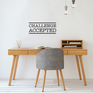 "Challenge Accepted - Wall Art Vinyl Decal - 8"" X 20"" Decoration Vinyl Sticker - Motivational Wall Art Decor - Inspirational Quotes Peel Off Stickers - Trendy Wall Art 660078089347"
