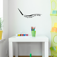"Every Child is an Artist - 30"" x 12"" - Cute Boys Little Girls Unisex Kids Adhesive Peel Off Sticker"