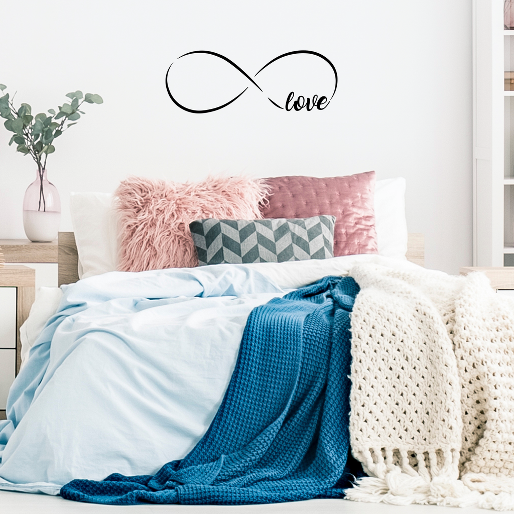 "Love Infinity Symbol -  30"" x 11"" - Vinyl Wall Decal Sticker Art"