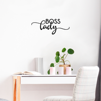 "Boss Lady - 23"" x 12"" - Inspirational Women's Quotes - Boss Girl Decoration Vinyl Sticker - Life Quotes Decal - Office Wall Decoration"
