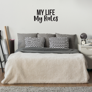 "My Life My Rules Inspirational Quote Decor - Wall Art Decal 16"" x 30"" Decoration Vinyl Sticker - Life Quotes Wall Decal - Bedroom Living Room Vinyl Wall Art Stickers 660078089057"