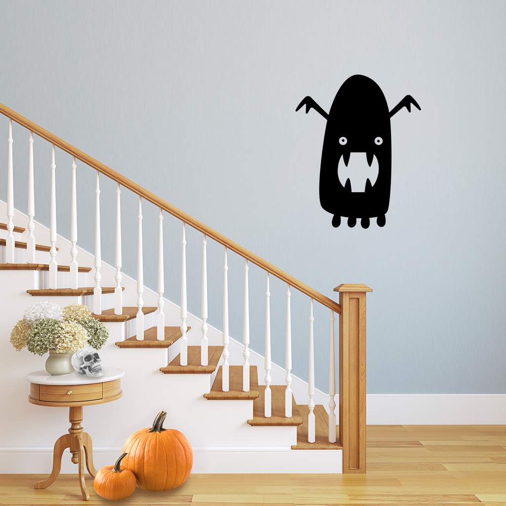 "Vinyl Wall Art Decal - Halloween Monster - 20"" x 16"" - Cute Fun Halloween Seasonal Decoration Sticker - Kids Teens Adults Indoor Outdoor Wall Door Window Living Room Office Decor 660078120163"