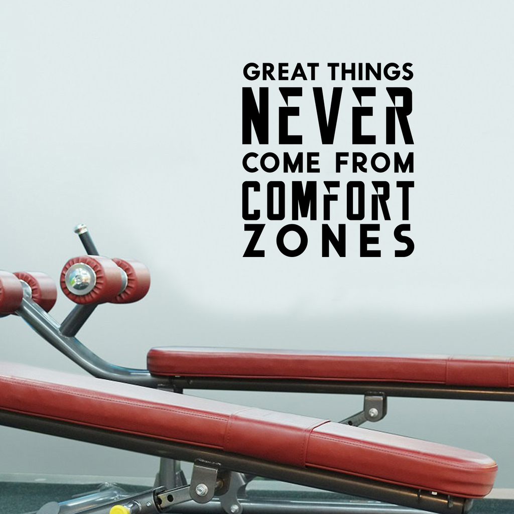 "Vinyl Wall Art Decal - Great Things Never Came from Comfort Zones - 26"" x 23"" - Decor Home Living Room Bedroom Office Sticker - Modern Peel and Stick Motivational Life Quote Decals 660078116722"
