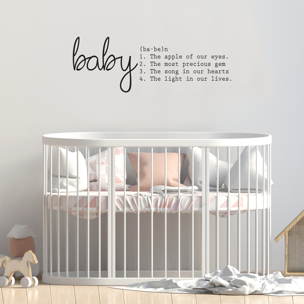 Baby Vinyl Wall Art Sticker With Quote 20 X 50 Nursery Room Wall Imprinted Designs