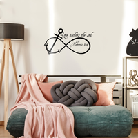 "Love Anchors the Soul-22""x11"" Infinity Symbol Bedroom Wall Decals Stickers Art Decor Home Vinyl Lettering Wall Decals"