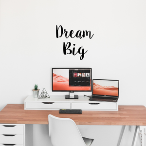 "Dream Big Inspirational Quote and Saying - Wall Art Decal - 21"" x 23"" Decoration Vinyl Sticker - Bedroom Wall Vinyl Decals - Motivational Quote Vinyl Decor - Living Room Wall Decal 660078080375"