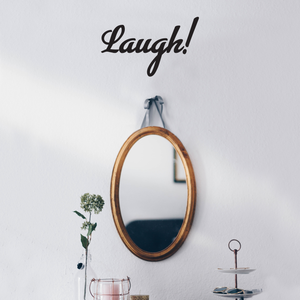 "Laugh Inspirational Quote - Wall Art Decal - 8"" x 12"" Decoration Wall Art - Bedroom Living Room Wall Decor - Trendy Vinyl Stickers 660078089651"