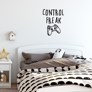 "Vinyl Wall Art Decal - Control Freak - 29"" x 23"" - Gaming Accessory Decor for Boy Girl Teens Bedroom Adhesive Decor - Cool Game Room Peel and Stick Waterproof Sticker Design 660078115541"