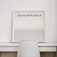 "You are The Fairest of Them All - 12"" x 1.5"" - Inspirational Beauty Quotes - Wall Art Decal - 2.5"" x 12"" Decoration Vinyl Sticker - Bedroom Wall Decor 660078089262"