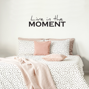 "Live in The Moment- Inspirational Life Quotes - Wall Art Decal - 14"" x 40"" Decoration Vinyl Sticker - Bedroom Living Room Wall Decor - Apartment Wall Decoration - Peel Off Stickers 660078089200"