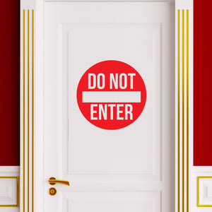 "Vinyl Wall Art Decal - Do Not Enter Sign - 12"" x 12"" - Teen Boys Girls Bedroom Door Sticker Decals - Home Decor for Office Door Window Dorm Room 660078106549"