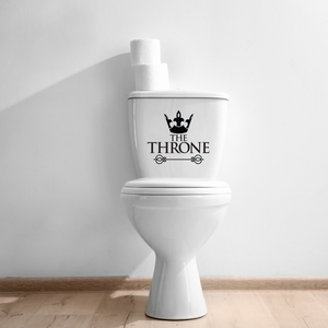 "The Throne -"" toilet Lid Sign - 10"" x 10"" - Bathroom Vinyl Decal - Funny Quotes Bathroom Decorations - Waterproof Vinyl Stickers"