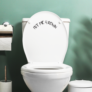 "Put Me Down - Toilet Lid Sign - 6"" x 12"" - Bathroom Vinyl Decal - Funny Quotes Bathroom Decorations - Waterproof Vinyl Stickers 660078089286"