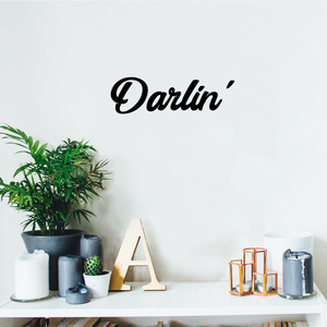 "Darlin' - Women's Inspirational Quotes Wall Art Vinyl Decal - 17"" x 5"" Decoration Vinyl Sticker - Motivational Wall Art Decal - Bedroom Wall Art Decals - Trendy Vinyl Wall Art"