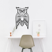 "Wise Owl Wall Decoration -18"" x 30""-  Wall Art Decal"