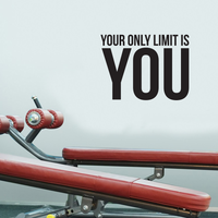 "Your Only Limit is You - Inspirational Quote Wall Art Decal - 17"" x 23"" Decoration Vinyl Sticker - Life Quotes Vinyl Decal - Gym Wall Vinyl Sticker - Trendy Wall Art 660078089811"