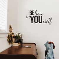 "Believe in Yourself Inspirational Life Quotes - 36"" x 20"" - Decoration Wall Art Vinyl Sticker"