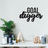 "Goal Digger - 22"" x 13"" - Inspirational Women's Quotes -  Boss Girl Decoration Vinyl Sticker - Life Quotes Decal"