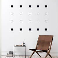 "Set of 20 Vinyl Wall Art Decal - Square Patterns - 4.3"" x 4.3"" Each - Minimalist Vinyl Stickers for Home Apartment Bedroom - Cool Modern Decor for Living Room Workplace Use 660078113653"