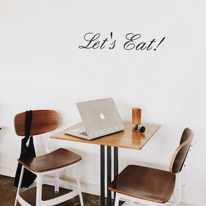"Let's Eat! - 23"" x 5"" - Kitchen Quotes Wall Art Vinyl Decal Decoration Vinyl Sticker - Motivational Wall Art Decal - Inspirational Kitchen Decor 660078090060"
