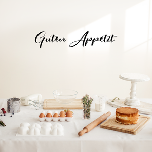"Vinyl Wall Art Decal - Guten Appetit - 7"" x 36"" - Modern Trendy Food Quote For Home Apartment Kitchen Living Room Dining Room Restaurant Bar Wedding Table Decoration Sticker"