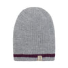 Alpaca Beanie - Burgundy with Light Grey