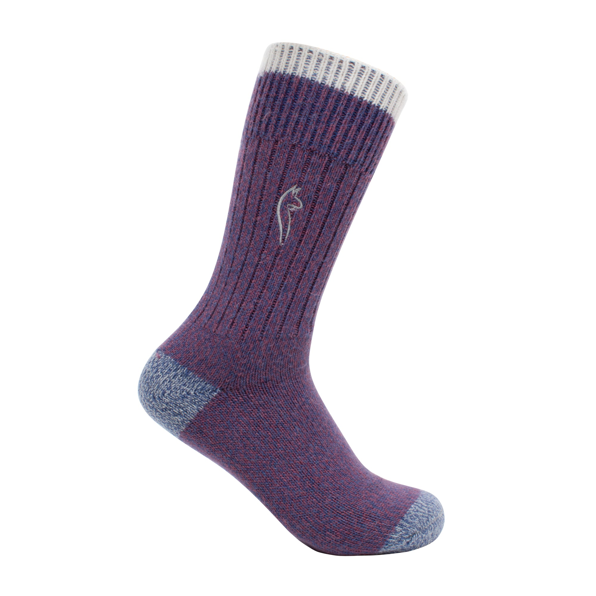 Alpaca SPORT Socks - Heather Purple