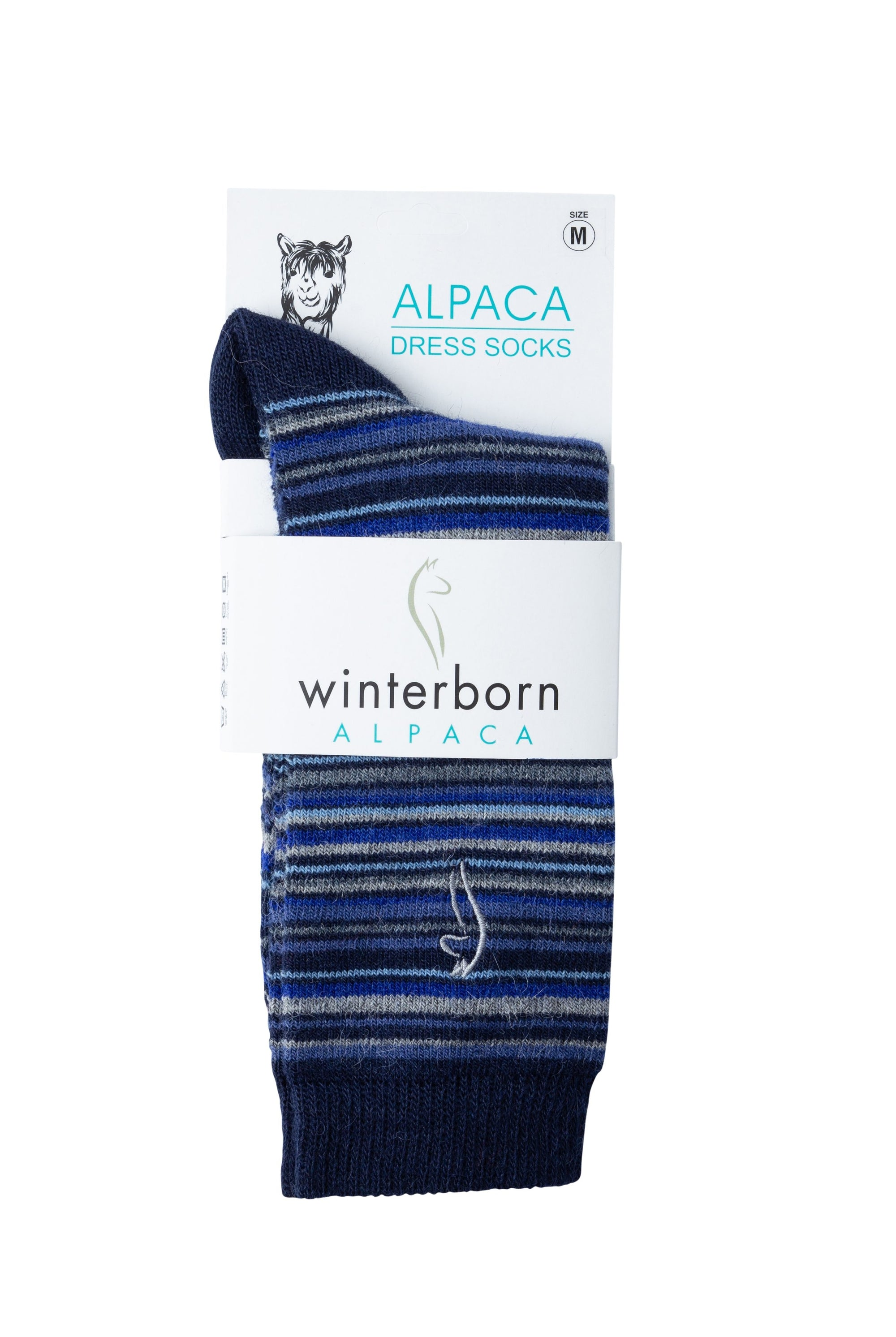 Alpaca Navy Blue Black Pattern Socks