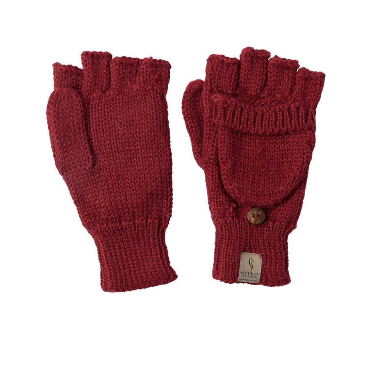 Alpaca Burgundy Gloves
