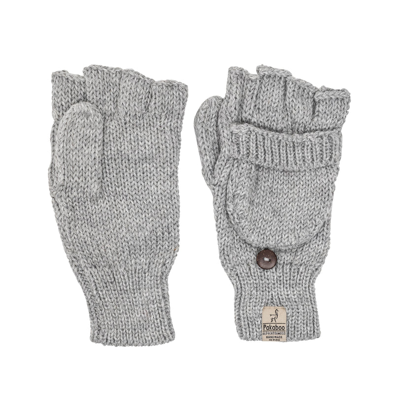 Alpaca Mittens - Light Grey