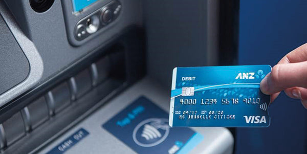 ANZ bank card with tactile markings