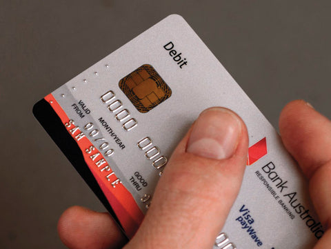 Bank Card with tactile markings