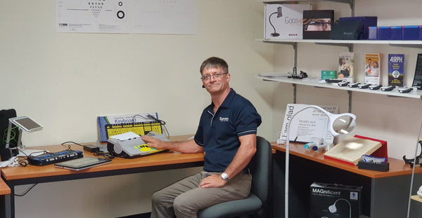 Michael in the newly refurbished Brisbane Sight Centre