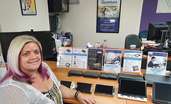 Leanne in the newly refurbished Brisbane Sight Centre