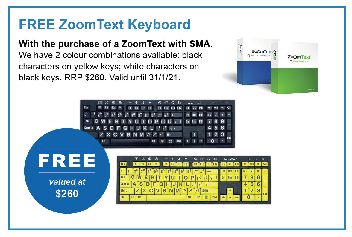 Special offer: Free ZoomText keyboard