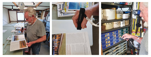A man using Quantum RLV devices to read