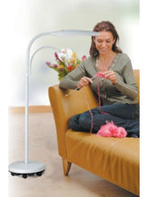Load image into Gallery viewer, Daylight Swan Floor LED Lamp with 1.75X lens