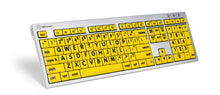 Load image into Gallery viewer, Mac Large Print ALBA Keyboard (Black on Yellow)