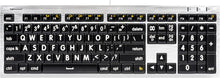 Load image into Gallery viewer, Mac Large Print ALBA Keyboard (White on Black)