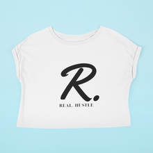 Load image into Gallery viewer, Real. Hustle Crop Tee