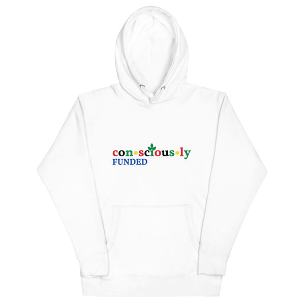 Consciously Funded Color Logo Unisex Hoodie