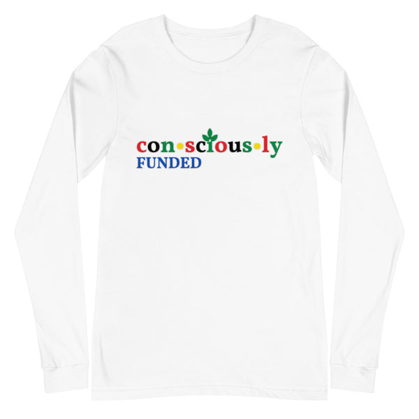 Consciously Funded Color Logo Unisex Long Sleeve Tee