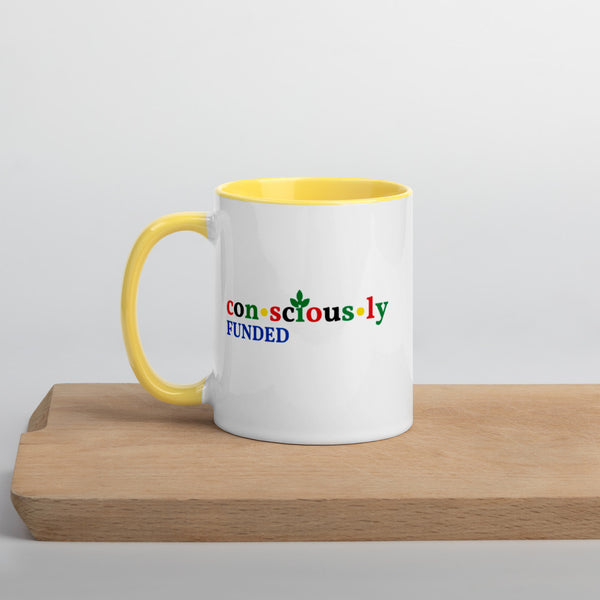 Consciously Funded Color Logo Mug with Color Inside