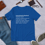 Consciously Funded Definition Short-Sleeve Unisex T-Shirt