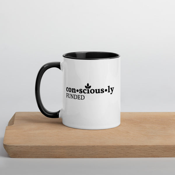 Consciously Funded Mug with Color Inside