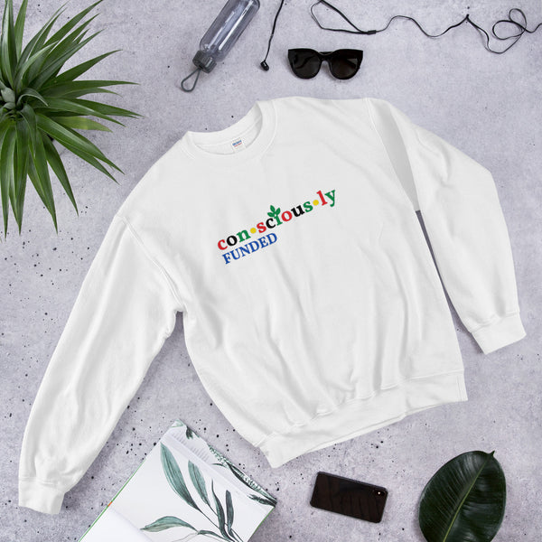 Consciously Funded Color Logo Unisex Sweatshirt